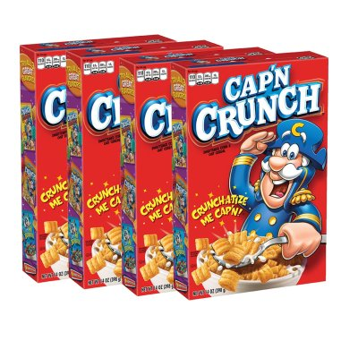 AMAZON: Cap'n Crunch Breakfast Cereal, Original, 14oz Boxes, 4 Pack for $7.50