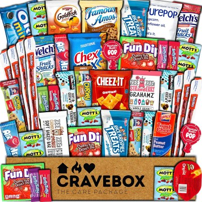 AMAZON: CraveBox Care Package (45 Count) Snacks Food Cookies Granola Bar
