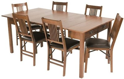 AMAZON: Meco Stakmore Mission Style Expanding Dining Table For $239 (Org $500) + FREE Shipping