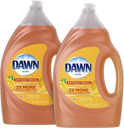 AMAZON: Dawn Antibacterial Dishwashing Liquid Dish Soap, Orange Scent, 56 Fl Oz, Pack Of 2(Packaging May Vary)