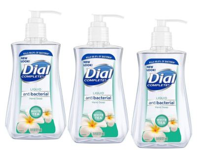 AMAZON: Dial Liquid Soap Anti-Bacterial White Tea 7.5 Ounce Pump (221ml) (Pack of 3)