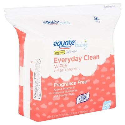 WALMART: Equate Baby Everyday Clean Fragrance Free Wipes, 240 count