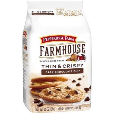 WALMART: Pepperidge Farm Farmhouse Thin & Crispy Dark Chocolate Chip For $2.98