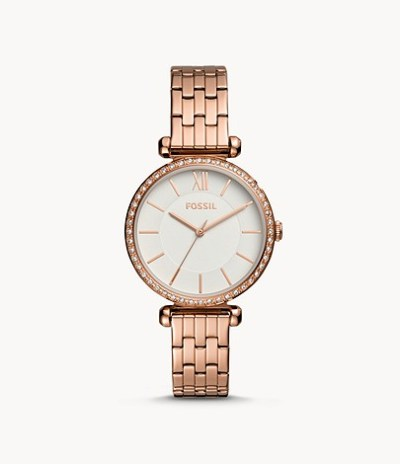 FOSSIL: Tillie Three-Hand Rose Gold-Tone Stainless Steel Watch (Available in 5 more colors) – PRICE DROP!