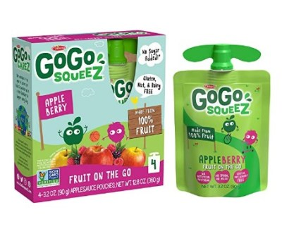 AMAZON: 48 Count GoGo squeeZ Applesauce on the Go, Apple Berry for $15.00 Shipped!