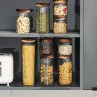Amazon : Glass Food Storage Jar with Lid(set of 3) Just $5.49 - $17.49 W/Code (Reg : $10.99 - $34.99)