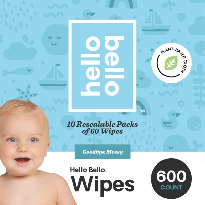 WALMART: Hello Bello Baby Wipes, Unscented, 600 Count