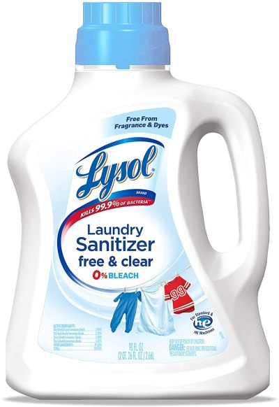 AMAZON: Lysol Laundry Sanitizer Additive, Free & Clear, Free from Fragrance and Dyes, 0% Bleach Laundry Sanitizer