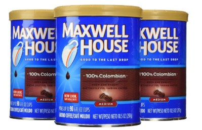 AMAZON: Maxwell House Colombian Ground Coffe, 10.5oz Bags, Pack of 3 for $8.97 Shipped!