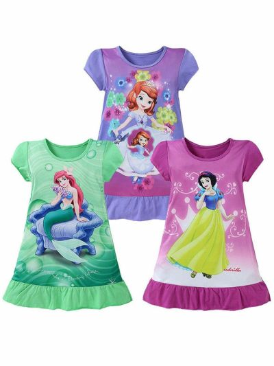 WALMART: Multitrust Kids Girl Mermaid Skirt Dress Pajamas Sleepwear Top T Shirt Nightdress, $13.99 (Reg $16.99)
