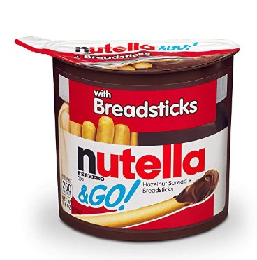 AMAZON: Nutella and Go Snack Packs, Chocolate Hazelnut Spread with Breadsticks