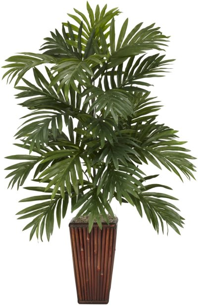AMAZON: Nearly Natural Areca Palm With Bamboo Vase Decorative Silk Plant For $46.14 (Was $72) + Free Shipping.