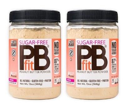 AMAZON: PBfit Sugar-Free Peanut Butter Powder, 13 Ounce (Pack of 2)