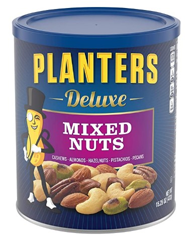 AMAZON: Planters Deluxe Mixed Nuts With Hazelnuts, 15.25 oz Canister