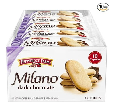 AMAZON: Pack of 10 Pepperidge Farm Milano Cookies, Dark Chocolate for $5.13