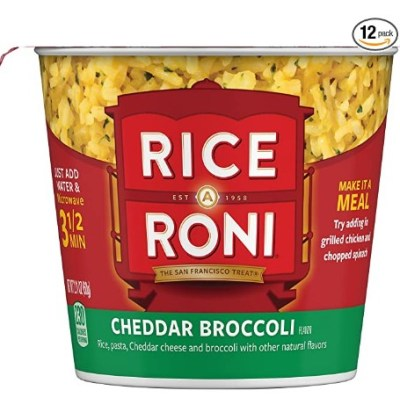 AMAZON: 12 Pack Rice a Roni Cups, Cheddar Broccoli, Individual Cup 2.11 Ounce for $6.96