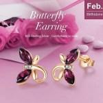 AMAZON: CDE Birthstone, Hypoallergenic Butterfly Stud Earrings – 80% OFF!