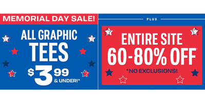 The Children's Place: Entire Site 60%-80% Off, $3.99 Graphic Tees! PLUS FREE Delivery!