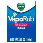WALMART: Vicks VapoRub Cough Suppressant Chest Rub Ointment, Original, 3.53 oz $8.44
