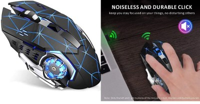 AMAZON: Wireless Gaming Mouse w/ Unique Silent Click, Breathing Backlight, 2 Side Buttons $15 ($89.4)