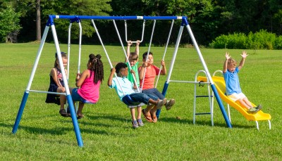 WALMART: XDP Recreation Play All Day Metal Swing Set, IN STOCK! JUST $179.99