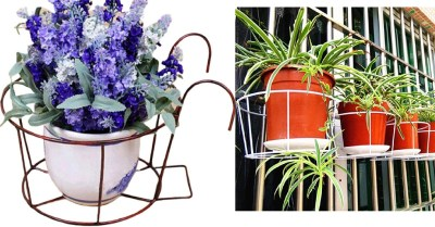 AMAZON: Wrought Iron Flower Pot Holder Balcony Railing Fence Floral Hanger Hanging Rack $6.9 ($23) Shipped