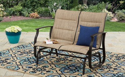 WALMART: Mainstays Padded Outdoor Glider Bench ONLY $140 (Reg $169) + FREE Shipping