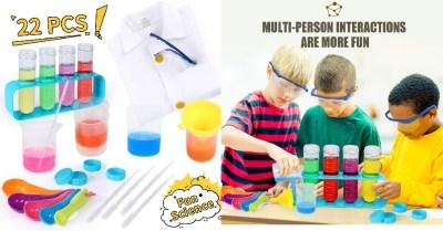 AMAZON: Kids Science Kit w/ Lab Coat, 22PCS Scientific ExperimentsTools Set $12.97 ($26)