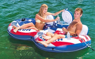 WALMART: Intex Inflatable American Flag Pool Float with Cooler ONLY $34 + FREE Shipping (Reg $55)
