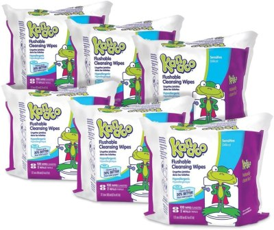AMAZON: Flushable Wipes for Babies and Kids (Pack of 12)