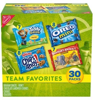 AMAZON: Variety Pack Nabisco with Cookies & Crackers, 30Count Box, 30 oz