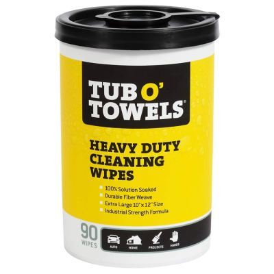 """AMAZON: Tub O Towels TW90 Heavy-Duty 10"""" x 12"""" Size Multi-Surface Cleaning Wipes, 90 Count Per Canister"""