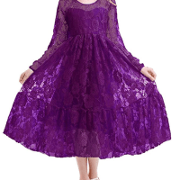 Amazon : 2-12 Years Little Big Girl Lace Flower Gril Dress Just $8.10 W/Code (Reg : $26.99)