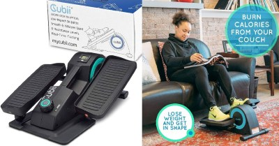 AMAZON: Seated Under-Desk Elliptical – Get Fit While You Sit – Built-in Display Monitor $40 ($200) Shipped