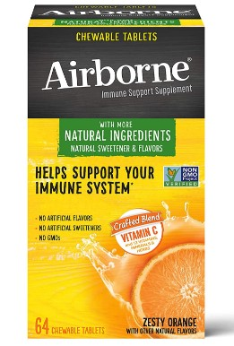 AMAZON: Airborne Zesty Orange Chewable Tablets (64 Count In A Box) $11.40 Shipped!