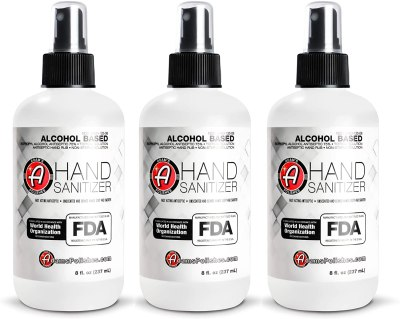 AMAZON: Adam's Hand Sanitizer 8oz (3 Pack) - USA Made Hand Sanitizing Spray | 75% Isopropyl Alcohol