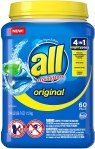 AMAZON: All Mighty Pacs Laundry Detergent 4 in 1 Stainlifter, Tub, 60 Count, JUST $7.97 WITH COUPON