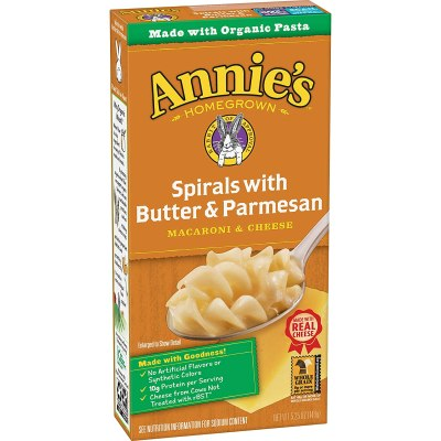 AMAZON: Annie's Spirals With Butter & Parmesan Macaroni and Cheese, Natural (Pack of 12), AWESOME price! Sub&save