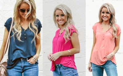 JANE: Button Babydoll Tunic ONLY $13.99 (Reg $29) + FREE Shipping – Multiple Colors!