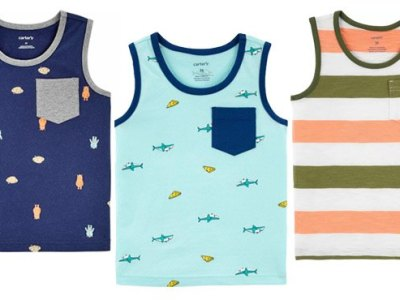 CARTER'S: Monsters & Cookies Jersey Tank ONLY $5 (Regularly $14)