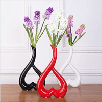 "Amazon : Ceramic Art Vase 10""Red, Black, White, Ideal Gift Just $8.50 W/Code + $2 Off Coupon (Reg : $21)"