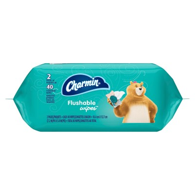 WALMART: Charmin Flushable Wipes, 2 packs, 40 Wipes Per Pack, 80 Total Wipes