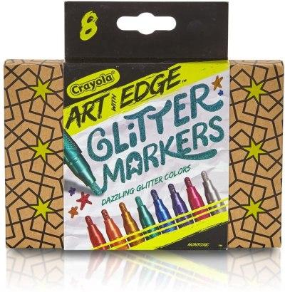 AMAZON: Crayola Art with Edge 8 Count Glitter Marker Novelty, JUST $4.95 (REG $8.49)