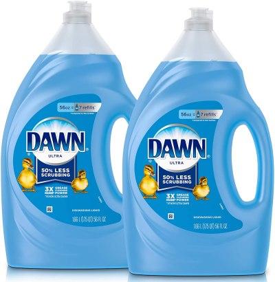 AMAZON: Dawn Ultra Dishwashing Liquid Dish Soap, Original Scent, Refill Size, 2 Count, 56 Oz.