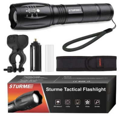 AMAZON: STURME LED Tactical Flashlight,5 Modes Ultra Bright Zoomable $5.95 WITH CODE 65Q31NGS