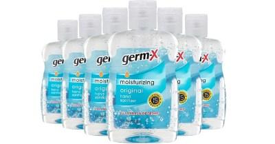 AMAZON: 6pk Germ-X Original Hand Sanitizer, 8 Fluid Ounce Bottles $14.45
