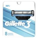 AMAZON: Gillette 3 Men's Razor Blade Refills, 8 Count for $7.97 Shipped! (Reg. Price $11.97)