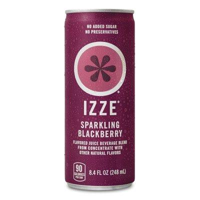 AMAZON: IZZE Sparkling Juice, Blackberry, 8.4 Fl Oz (24 Count) $13.20