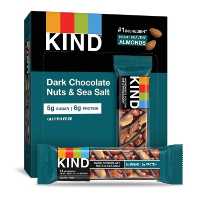 AMAZON: KIND Bars, Dark Chocolate Nuts & Sea Salt, Gluten Free, Low Sugar, 1.4 Ounce, 12 Count, CHECKOUT VIA SUBSCRIBE & SAVE!