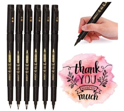 AMAZON: Calligraphy Brush Pens Art Markers for Beginners – 60% OFF! DOUBLE DISCOUNT!